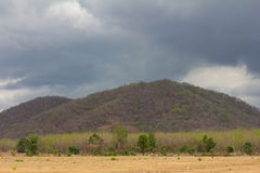 Barren mountains cloudy Stock Photography