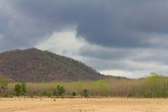 Barren mountains cloudy Stock Image
