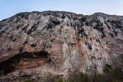 Barren rock wall Stock Photo