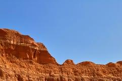 Barren rocks in Palo Duro Canyon, USA. Barren rocks against clear blue sky in Palo Duro Canyon, Texas, USA Stock Image