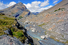 Barren Rocks at a Mountain Pass. Barren Rocks at Nigel Pass in the Canadian Rockies Royalty Free Stock Photos