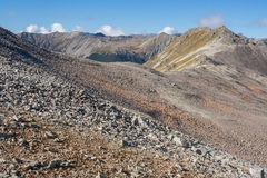 Barren slopes in Nelson Lakes National Park. New Zealand royalty free stock photos