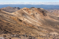 Barren slopes in Tongariro National Park Royalty Free Stock Photo