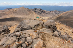 Barren slopes in Tongariro National Park Royalty Free Stock Images