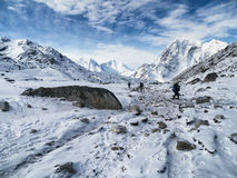 Barren Trekking Route to Gorak Shep Stock Photo