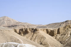 Barren Valley. Hills above Valley of the Kings on the western bank of the River Nile near Luxor (Thebes), Egypt royalty free stock photos