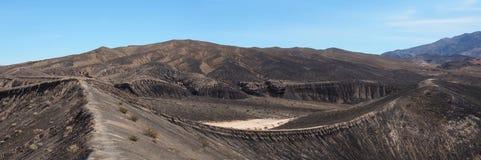 Barren Volcanic Landscape at Ubehebe Volcanic Crater Stock Photos