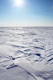 Barren Winter Landscape. A barren winter landscape of snow and ice Royalty Free Stock Photo