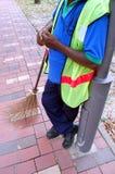 Barrendero y broom2 Fotografía de archivo