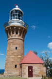 Barrenjoey灯塔,棕榈滩,澳大利亚 免版税图库摄影