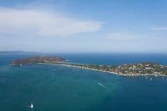 Barrenjoey Headland - Aerial Shot Royalty Free Stock Images