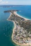 Barrenjoey headland aerial view Stock Photos