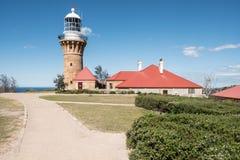 Barrenjoey Hoofdvuurtoren, Palm Beach, Nieuw Zuid-Wales, Australië Stock Foto