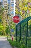 Barrera automática del camino Foto de archivo