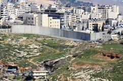 Barrera de Israel Cisjordania Imágenes de archivo libres de regalías
