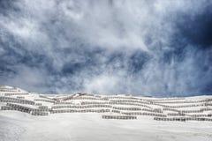 Barrera de la avalancha Foto de archivo