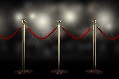 Barrera de la cuerda roja Foto de archivo libre de regalías