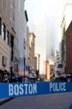 Barrera de la policía de Boston Fotografía de archivo