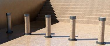 Barrera de las escaleras Foto de archivo libre de regalías