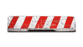 Barrera del camino concreto aislada en blanco Foto de archivo libre de regalías