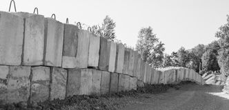 Barrera del cemento foto de archivo libre de regalías