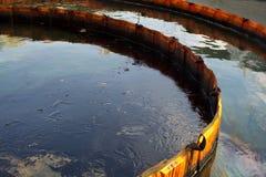 Barrera del control de la contaminación foto de archivo libre de regalías