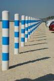 Barrera del estacionamiento de una playa Fotos de archivo