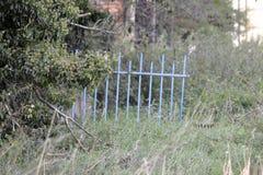 Barrera en un prado Imagen de archivo