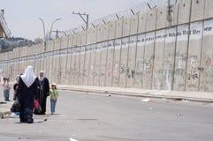 Barrera israelí de la separación Imagen de archivo