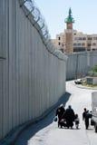 Barrera israelí de la separación en Jerusalén oriental Fotografía de archivo