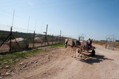 Barrera israelí de la separación Fotos de archivo libres de regalías