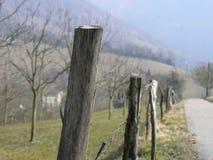 Barrera, madera de la cerca o metal Fotos de archivo libres de regalías