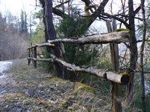 Barrera, madera de la cerca o metal Imagen de archivo