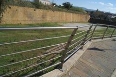 Barrera protectora, las paredes venecianas de la ciudad de Chania, Grecia Imagen de archivo