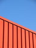 Barrera roja del metal Fotos de archivo libres de regalías