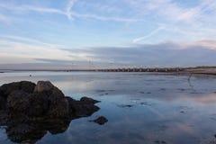Barreras de la subida de las aguas en los Países Bajos Fotos de archivo libres de regalías