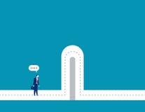 barreras Hombre de negocios con las barreras de la rotura Imagen de archivo libre de regalías