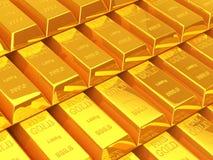 Barres d'or Images libres de droits