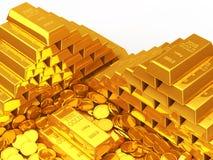 Barres d'or Photos libres de droits