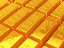 Barres d'or Photographie stock libre de droits