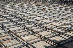 Barres d'acier de renfort de maille Images libres de droits