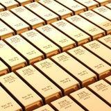 barres d'or 3d Photographie stock libre de droits
