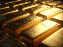 Barres d'or de 1000 grammes Images stock