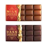 Barres de chocolat réglées illustration libre de droits