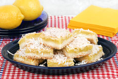 Barres de citron de noix de coco Image stock