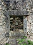 Barres de fer dans la vieille fenêtre Images stock