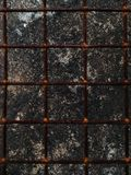 Barres de fer rouillées Image stock