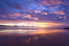 Barres de fraction roses à marée basse Image libre de droits
