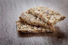 Barres de granola Photos libres de droits