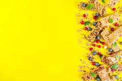Barres de granola de c?r?ale photos libres de droits
